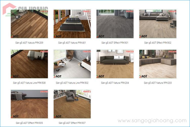 Bảng mã sàn gỗ AGT 8mm - Sàn gỗ Châu Âu cao cấp