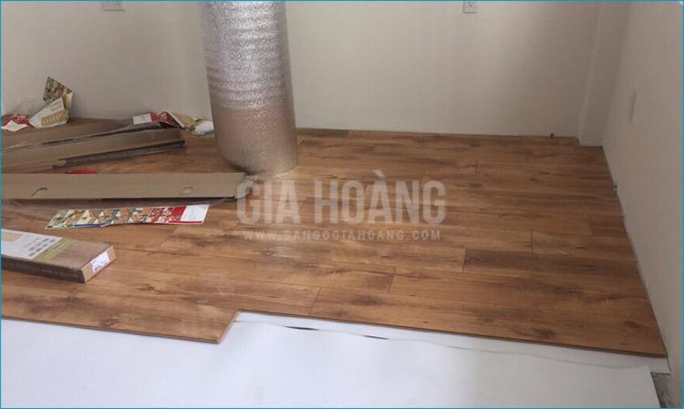 Thi công lắp đặt sàn gỗ Sensa tại Gò Vấp