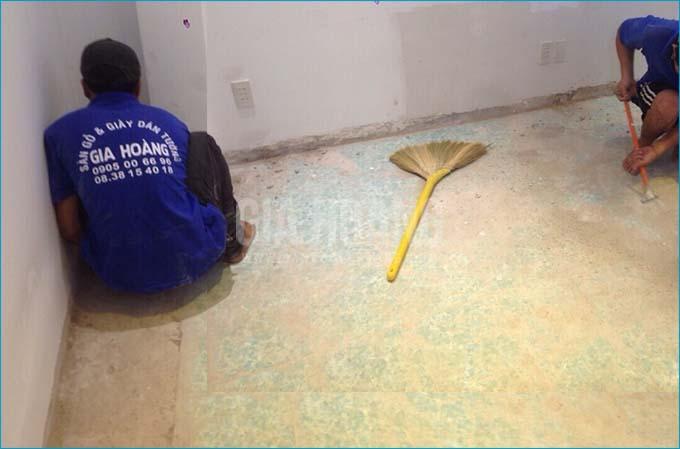 Xử lý nền sàn trước khi lắp đặt sàn gỗ Thụy Sĩ